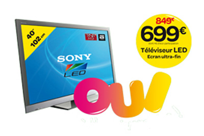 bon plan tv led 699 euros carrefour oui