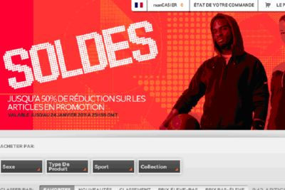 shopping achat discount soldes nike