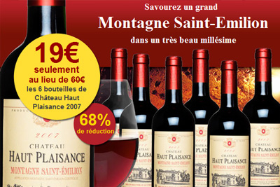 bon plan shopping vin saint emilion