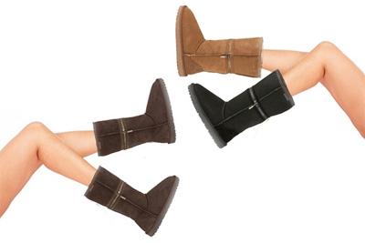 paire de bottes zipp es en peau de mouton zippyboot 79 99 au lieu de 254 85. Black Bedroom Furniture Sets. Home Design Ideas
