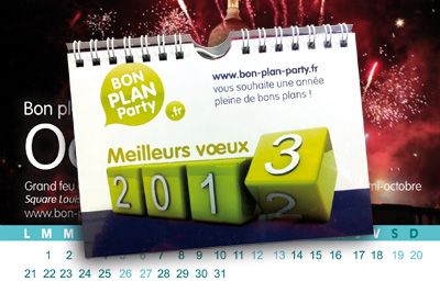 calendrier 2013 bon plan party