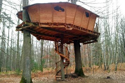 On a test pour vous la nuit insolite dans une cabane dans les arbres - Plan cabane dans les arbres ...