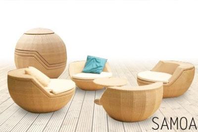 Ensemble mobilier de jardin Samoa en résine tressée dès 269 ...