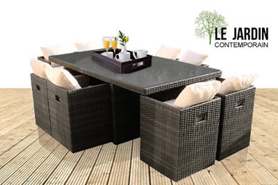 mobilier de jardin rattan le jardin contemporain. Black Bedroom Furniture Sets. Home Design Ideas