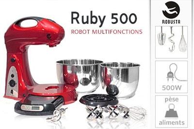 robot cuisine professionnel multifonctions ruby 500 robusta 99 90 au lieu de 200. Black Bedroom Furniture Sets. Home Design Ideas