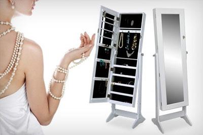 miroir coffre bijoux avec rangement pas cher 79 99. Black Bedroom Furniture Sets. Home Design Ideas