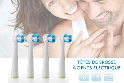 t tes de brosse dents lectrique compatibles oral b 4 90 lot de 8. Black Bedroom Furniture Sets. Home Design Ideas