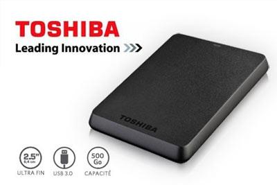 disque dur externe portable 500 go toshiba usb 3 0 49 98 au lieu de 62. Black Bedroom Furniture Sets. Home Design Ideas