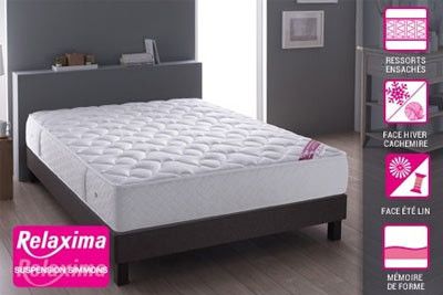matelas relaxima avec accueil mousse m moire de forme d s 249. Black Bedroom Furniture Sets. Home Design Ideas