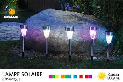 Lampes solaire Led pour jardin ou balcon à 24,90 € au lieu de 55 €