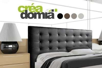 t te de lit capitonn e en simili cuir cr adomia d s 99 90 au lieu de 199 90. Black Bedroom Furniture Sets. Home Design Ideas