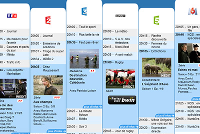 freebox programme tv