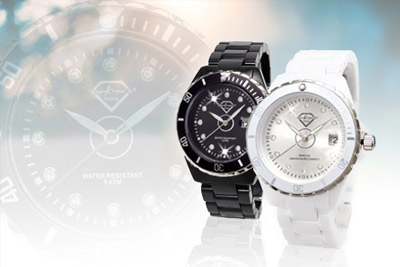 montre style ceramique luxury crystal in