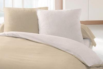 Parure de lit soft touch bicolore 29 90 for Parure de lit pas chere