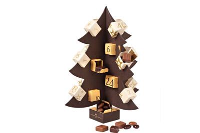 Calendrier de l 39 avent chocolat en forme de sapin de la maison du chocolat - Sapin calendrier de l avent ...