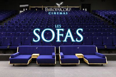 europacorp cinemas un cin ma tout confort o vous pourrez vous allonger. Black Bedroom Furniture Sets. Home Design Ideas