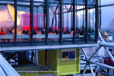 bar insolite au sommet du centre pompidou avec vue sur tout paris. Black Bedroom Furniture Sets. Home Design Ideas