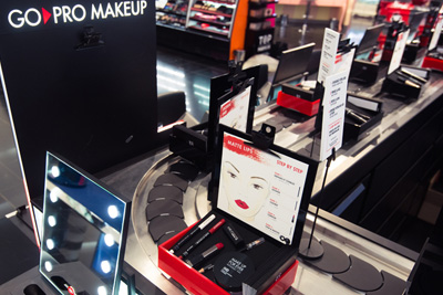 Bar à maquillage gratuit Go Pro Make Up Forever