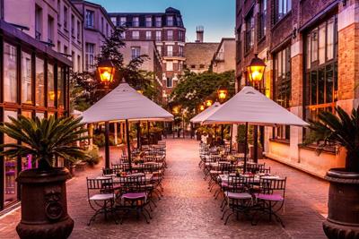 Restaurant terrasse au calme en plein c ur de paris - Terrasse jardin marais villeurbanne ...