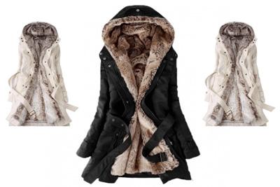 magasin d'usine bc195 8c9ac Promo manteau fourré à 44,90 € au lieu de 99,99 €