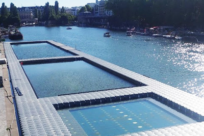 Piscine dans le bassin de la villette for Piscine 19eme