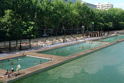 Piscine paris plages gratuite dans le bassin de la villette for Piscine 19eme