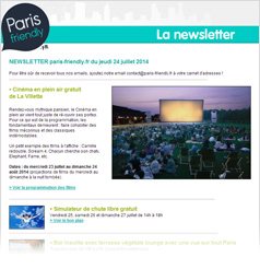 newsletter paris-friendly.fr