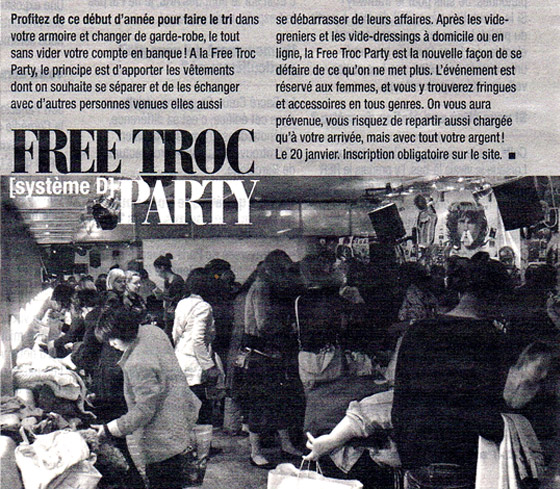 article presse free troc party le pariscope