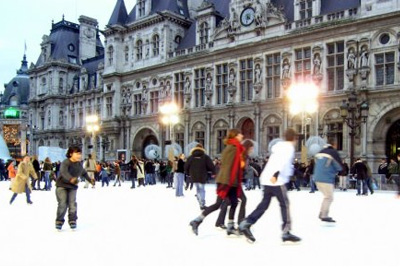 Patinoire en plein air gratuite à Paris