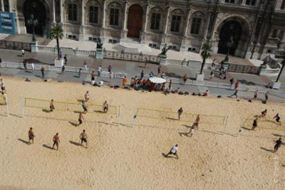 beach volley gratuit paris plages