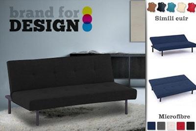 canap clic clac millenium brand for design 99 au lieu de 249. Black Bedroom Furniture Sets. Home Design Ideas