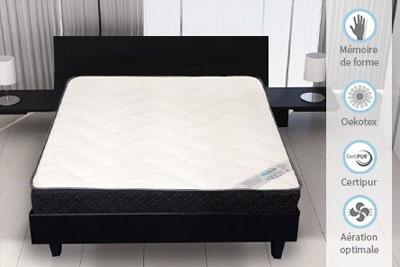 matelas senso touch avec mousse m moire de forme partir de 99 90. Black Bedroom Furniture Sets. Home Design Ideas
