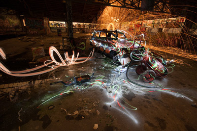 Exposition gratuite de light painting