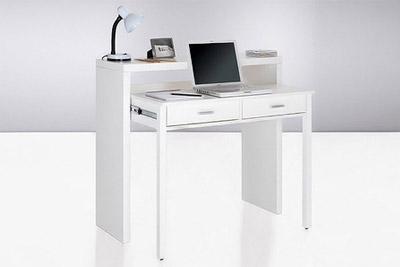 bureau console extensible pas cher 99 90 au lieu de 399. Black Bedroom Furniture Sets. Home Design Ideas