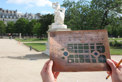 Escape game gratuit au jardin des Tuileries